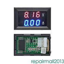 DC 100V 10A voltmetro Amperometro Blu + Rosso LED Digital Volt Meter RT