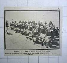 1917 Recruits For American Navy At Dinner Great Training Station Newport