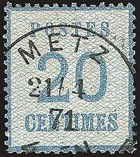 Elsaß-Lothringen Nr. 6 gestempelt