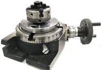 """HORIZONTAL VERTICAL MILLING INDEXING 4""""/100 ROTARY TABLE & SMALL CHUCK 50MM 4JAW"""