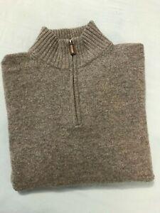 J.Crew Size M Men's Lambswool 1/4 Zip Pullover Sweater Long Sleeve Jumper Vest