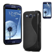 Black Silicone Gel Case Skin Cover For Samsung Galaxy S3 i9300   YM