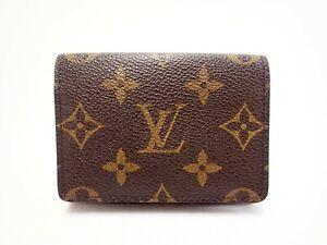 Authentic LOUIS VUITTON Monogram Card Case ID Holder Carte De Visite M62920