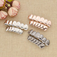 Hip Hop Teeth Upper Lower Grills Set Unisex Body Jewelry Golden Accessories