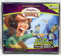 NEW #40 Out of Control Adventures in Odyssey 4 Audio CD Vol Set Volume Family