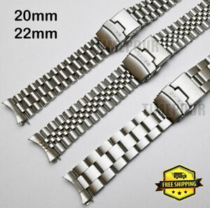 Steel Curved Bracelet Oyster Jubilee Fits Seiko SKX007 6309 20mm 22mm Strap Band