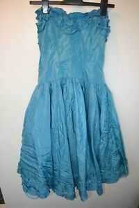 Vintage blue prom dress size small party festival