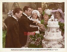 "GENE TIERNEY & JOHN PAYNE Vintage Original Photo COLOR ""RAZOR'S EDGE"" WEDDING"