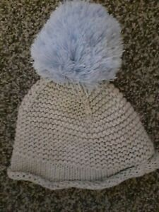 Baby Boys Next Pom Pom Hat 0-3 Months Excellent Condition