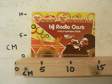 STICKER,DECAL RADIO OOST SWEET SEVENTIES BIJ RADIO OOST 2009
