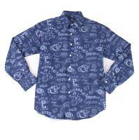 Polo Ralph Lauren Mens Shirt Blue Size Large L Button Down Classic Fit $168 #067