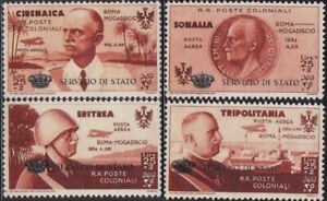 ITALY Africa Colony Overprint set MNH Gummed Reproduction Stamp sv
