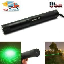 Laser Pointer Rechargeable ~ Military 303 + Star Cap + Battery + Keys + Charger