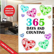 1 FIRST YEAR ANNIVERSARY LOVE CARD HER VALENTINES GREETINGS HIM I LOVE YOU #ab4