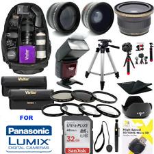 PANASONIC LUMIX DC-GH5S 32GB PRO MEGA HD KIT LENSES FILTER-FLASH-TRIPOD-BACKPACK