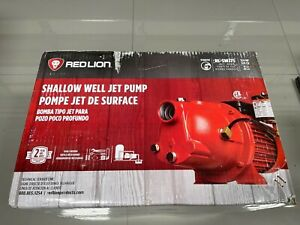 Red Lion 12.2-GPM Cast Iron Shallow Well Jet Pump 115/230V 3/4-HP Red New!!!