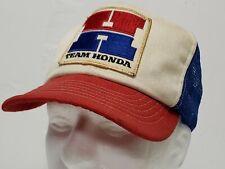 RARE Vintage Swingster *TEAM HONDA* Snapback Trucker Hat Cap Mesh Big H USA