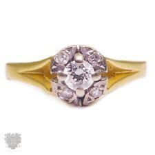 Antique Australian solid 18ct gold diamond solitaire ring 1930's War Era