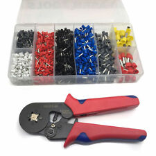 1200Pcs Bootlace Ferrule Crimper kit + Self Adjusting Crimper Crimping Tool