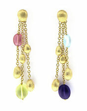 Marco Bicego Confetti Collection 3 Strand Earrings 18K Yellow Gold