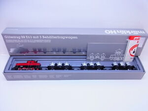 58925 Märklin H0 2874 Freight Train Br 863 With 3 Container Car Mint Boxed
