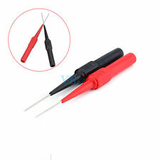 1Pair Rouge/ Noir Sécurité Sondes de Test de Aiguille de Perçage Pour Multimètre