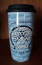 Disney Parks Epcot Food and Wine Festival Ceramic Tumbler Coffee Mug