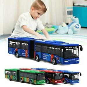 1:64 Scale City Double-section Bus Alloy Diecast Model For Kid Toy Hot N1U5