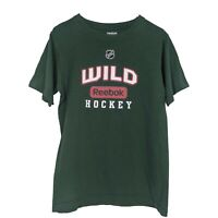 REEBOK Green Short Sleeve NHL Hockey Print T Shirt - Mens Small