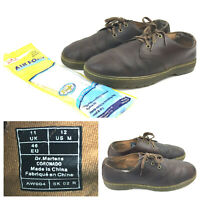 Doc Dr. Martens Mens US12 Coronado Brown Conditioned Leather Low Top New Insoles