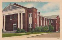Postcard Baptist Church Glayton GA