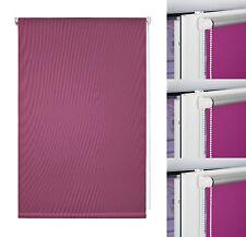 Klemmfix Rollo Verdunkelung Thermo Fenster Plissee Jalousie Seitenzugrollo Pink