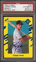 Very Rare 1990 Classic #T92 Chipper Jones Autograph Rookie RC Card PSA 10 HOF