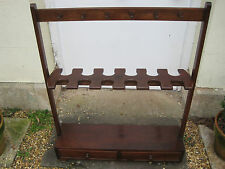More details for victorian mahogany country house whip and boot stand s
