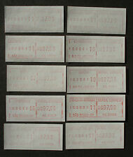 Brasilien 1981:Set ATM/variable rate stamps/labels,MN 2,Autom-Nr.VA.1-VA.10 –MNH