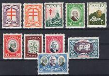 LATVIA 1930 - SC# B56 - B65 MINT HINGED SET