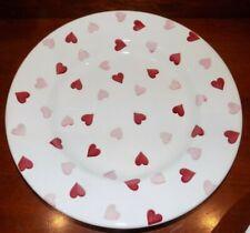 "NEW EMMA BRIDGEWATER  PINK HEARTS  10"" DINNER PLATE"