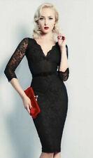 Wheels & Dollbaby Black Lace Scallop Fifi Dress 8