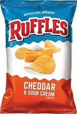 Ruffles Ridged Potato Chips, Cheddar and Sour Cream 8.5 oz (3 Bags)