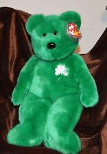 "Ty Beanie Buddy Buddie Bear Erin - 15"" Bear Shamrock Green Color St. Patrick"