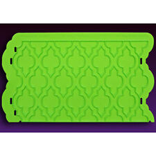 Moroccan Lattice Onlay Silicone Fondant Stencil by Marvelous Molds