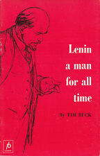 Lenin a Man for All Time - Communist Leaflet 1969 - Tim Buck - USSR Marxism