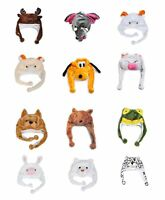 6 Pack 'Hat-imals' Plush Winter Hats (HATC-1-6pk)