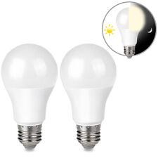 2 9W E26 LED Dusk to Dawn Light Bulbs Auto On Off for outside, home, lamp