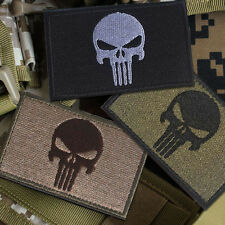 3 PC PUNISHER SKULL SWAT OPS US ARMY MILITARY TACTICAL MORALE BADGE PATCH
