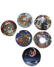 Avon Collectible Christmas Plates Set Of 6