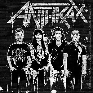 "ANTHRAX SPRAY PAINT BRICK WALL Orignal Artwork Decal STICKER - 4"" x 4"""