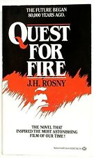 QUEST FOR FIRE—J. H. ROSNY—Harold Talbott, translator—Ballantine pb (Feb.,1982)