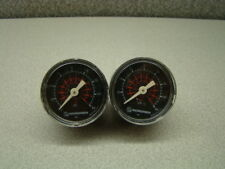 "Norgren 2"" Pressure Gauge, 160psi /1.1MPa /11bar, 1/4"", Center-Back Mount, QTY 2"