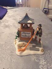 Dept 56 Alpine Village Sign Alpenhorn Player Alpine Village #56182 2001